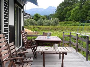 八ヶ岳を見ながらカフェ